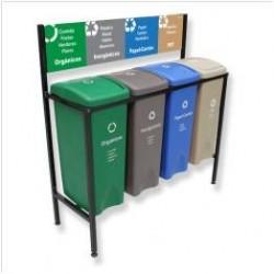 Isla Ecológica de 4 divisiones para separación de basura