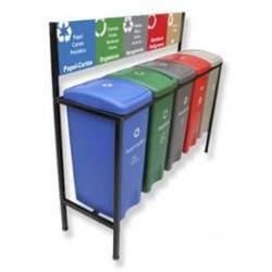 Isla Ecológica de 5 divisiones para separación de basura