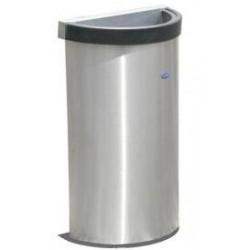 Bote de basura de medio punto de acero inoxidable 49cm x 25cm x 60cm, clave 613111