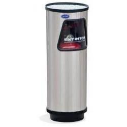 Portaextinguidor cilindrico Artcenter de acero inoxidable de 23cm x 65cm, clave 401011.