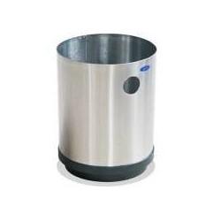 Cesto papelero Artcenter cilindrico de acero inoxidable de 24cm x 33cm, clave 501011.