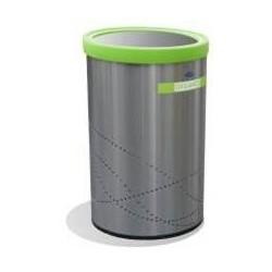 Bote Balancin cilindrico Artcenter, ecologico de acero inoxidable 29cm x 61cm clave 651111