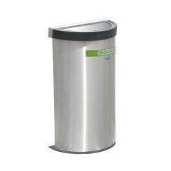 Bote  Artcenter Medio punto  balancín ecológico de acero inoxidable 49cm x 25cm x 60cm, clave 656011