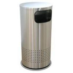 Bote Artcenter cilindrico jumbo duplex de acero inoxidable de 49cm x 110cm, clave 630311.