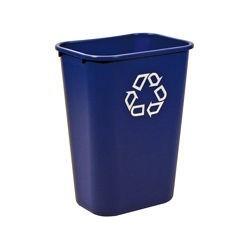 Contenedor Escritorio para Reciclar Grande con el Logotipo universal de reciclaje capacidad 39 lt