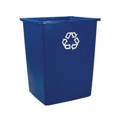Contenedor para Reciclaje Glutton Rubbermaid capacidad 212 lts