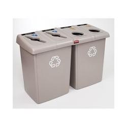 Estacion de Reciclaje Rubbermaid Glutton capacidad 348.3 lt