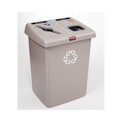 Estacion de Reciclaje Rubbermaid de Dos Variantes Glutton capacidad 174.1 lt clave 256T-06