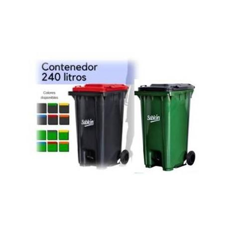 Bote de basura Sablón 240lts con ruedas, pedal y tapa