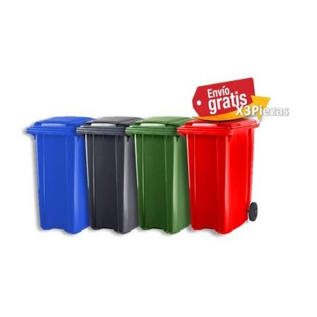 Contenedor Plastic Omnium de 240lts de Colores