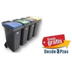 Plastic Omnium Contenedor de 180Lts Cuerpo Gris Tapa Color