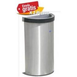 Bote de basura Artcenter de medio punto de acero inoxidable 49cm x 25cm x 80cm, clave 613211.
