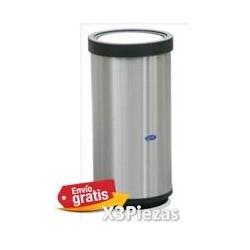 Basurero cilindrico Artcenter de acero inoxidable Tapa balancin 29cm x 61cm clave 601111