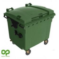 Bote de 1100lts  Plastic Omnium Color Verde