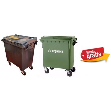 Botes de basura Europeo de 770lts Plastic Omnium